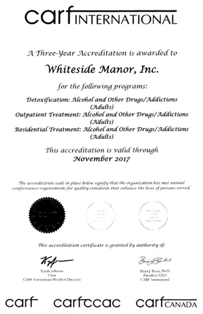 Whiteside Manor | CARF Accredited Addiction Treatment Programs ...